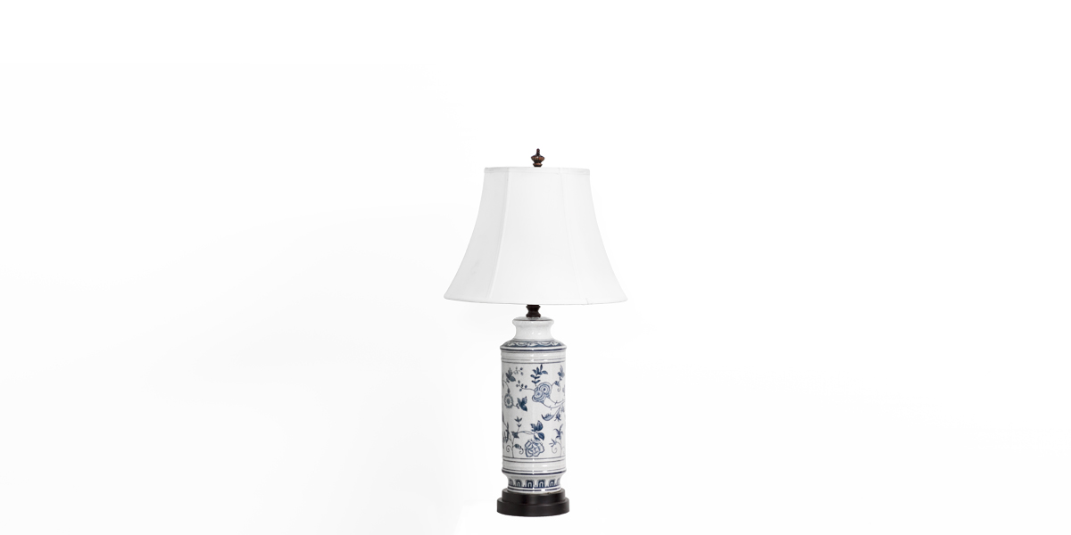 "30""h Blue Floral Ceramic Table Lamp LGT012526"