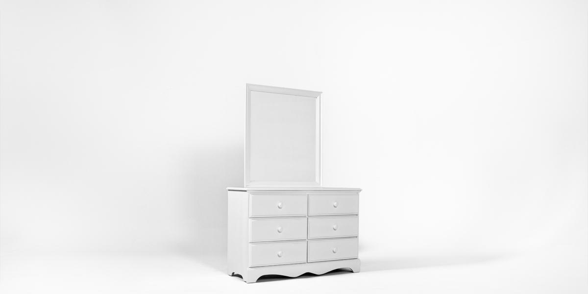 """34""""w x 38""""h White Dresser Mirror MIR013304"""