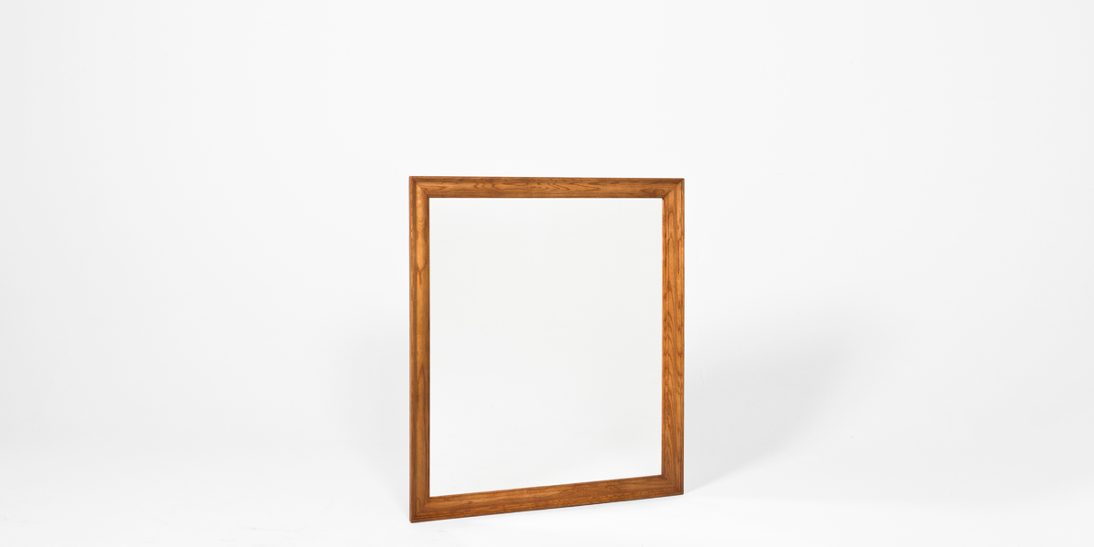 "33.75""w x 37.75""h Medium Oak Dresser Mirror MIR013313"