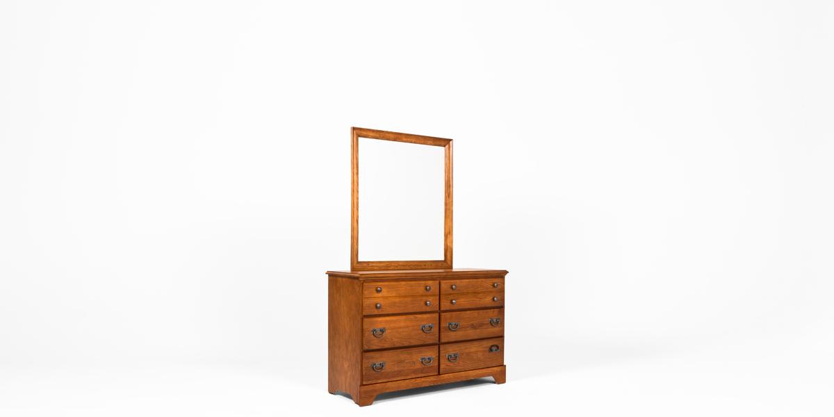 "33.75""w x 37.75""h Medium Oak Dresser Mirror MIR013313"