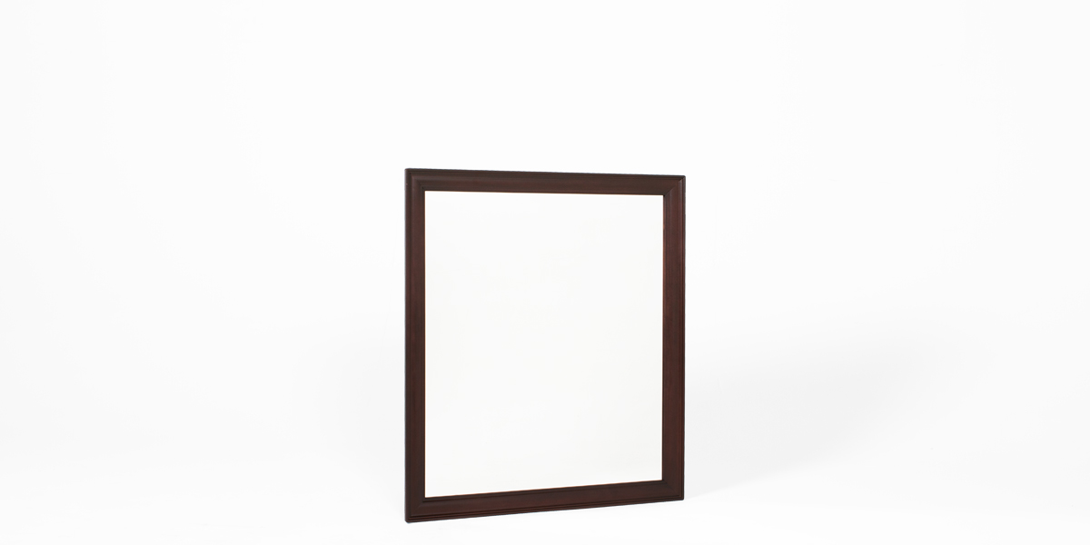 "34""w x 38""h Dark Mahogany Mirror MIR013322"