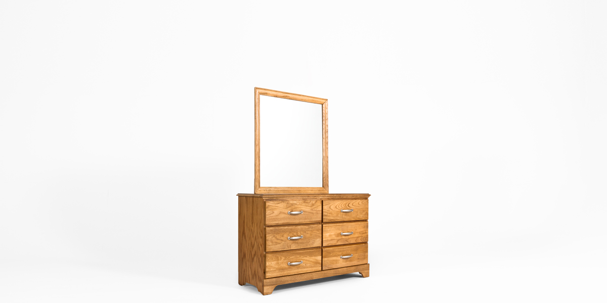 "34""w x 38""h Oak Dresser Mirror MIR013327"