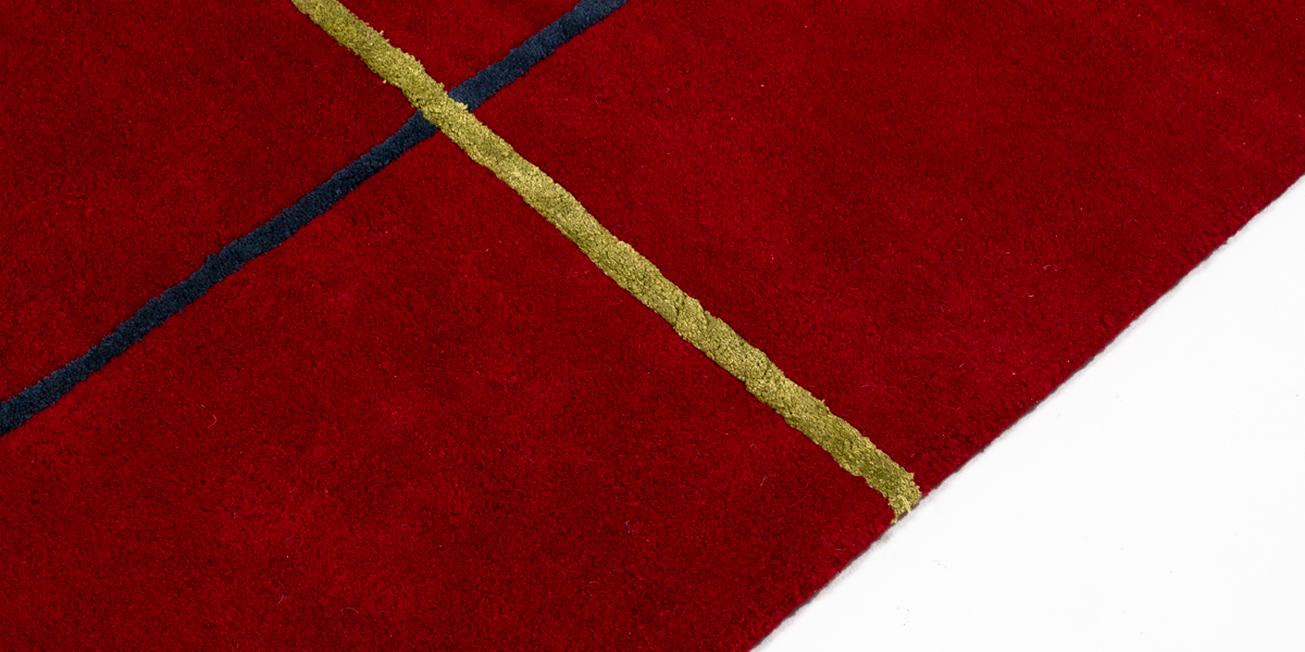 5' x 8' Dark Red Carpet MIS010966