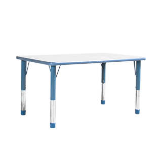 "48""w x 30""d Blue Children's Table TBL013120"