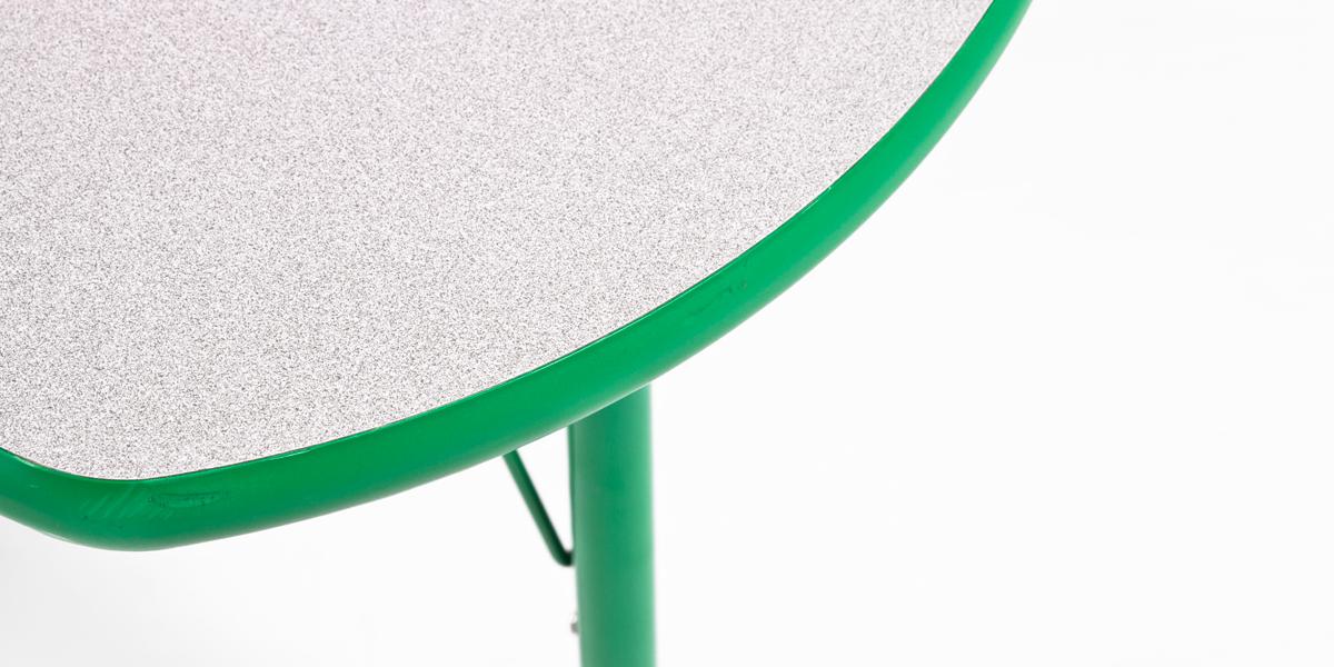 "48""w x 48""d Green Children's Table TBL013124"