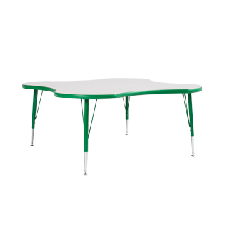 "48""w x 48""d Green Children's Table TBL013124"