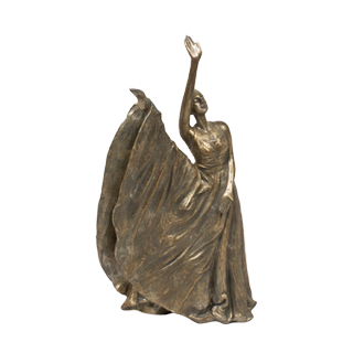 """17""""h Bronze Statue ACC012478"""
