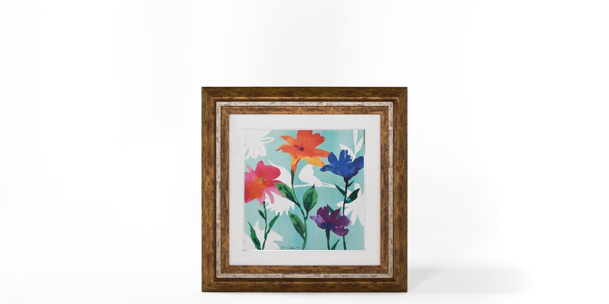 "30""w x 30""h Floral Art ART010282"