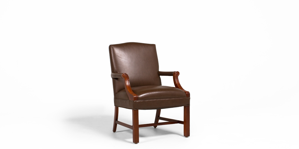 Brown Leather Guest Chair CHR000906