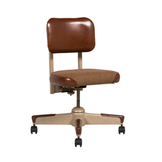 Brown Vinyl Vintage Task Chair CHR003786