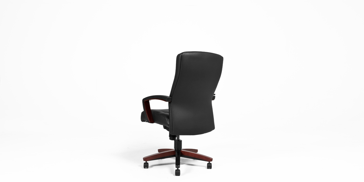 Black Leather Executive High-Back Office Chair CHR006221