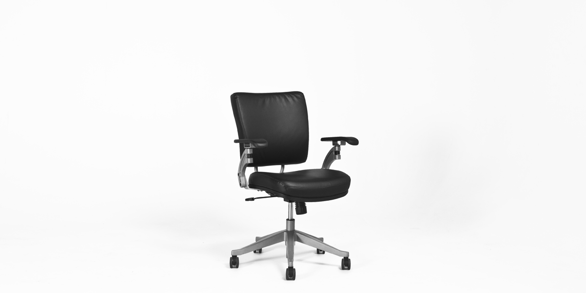 Black Vinyl Mid-Back Office Chair CHR008576