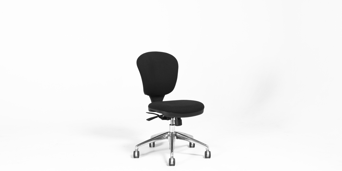 Black Fabric Armless Task Chair CHR010137