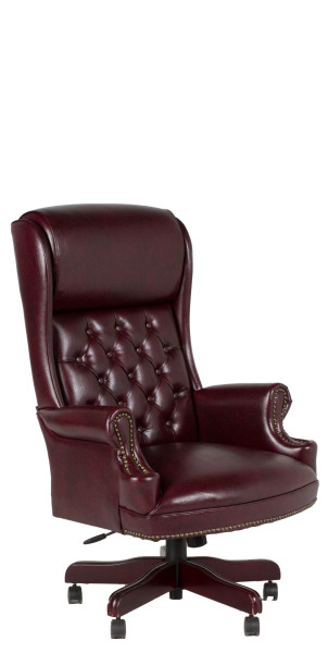 Oxblood Vinyl Executive Hi-Back Chair CHR012179