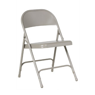 Grey Metal Folding Chair CHR012336