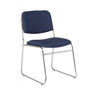 Navy Fabric Stack Chair CHR012343