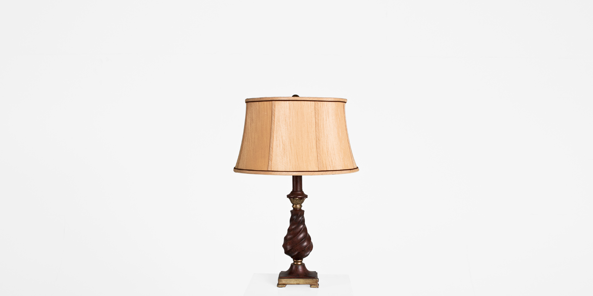 "26""h Cherry Table Lamp LGT011329"