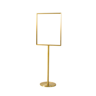 "65""h Satin Brass Sign Stanchion MIS007168"