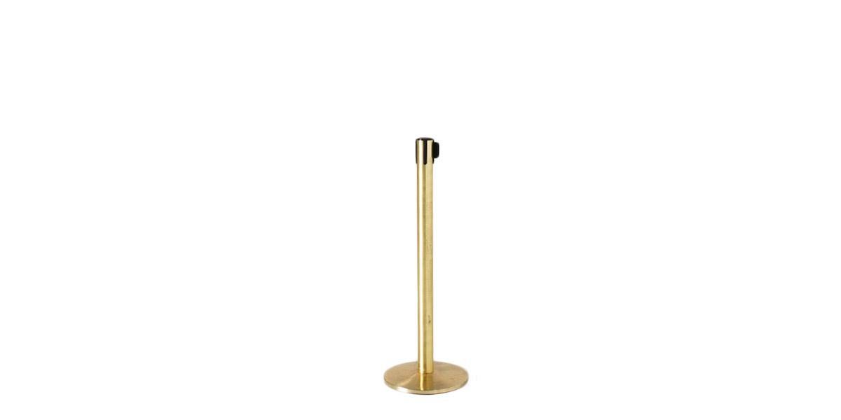 "39""h Satin Brass Stanchion MIS007336"