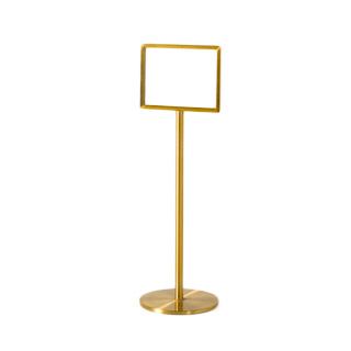 "48""h Satin Brass Sign Stanchion MIS012846"