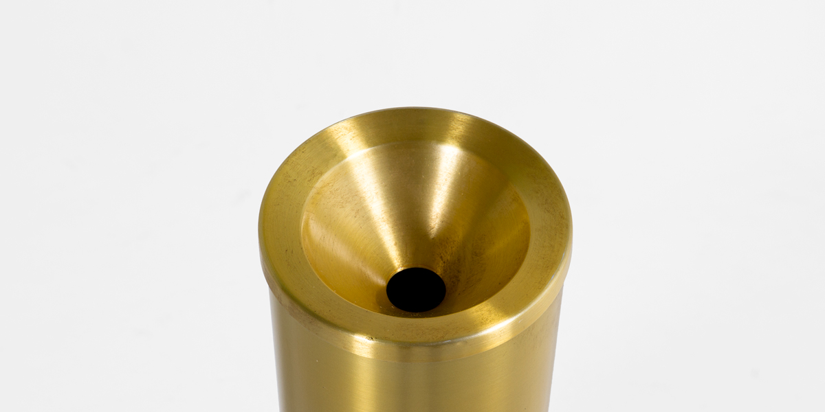 "23""h Satin Brass Standing Ashtray MIS013365"