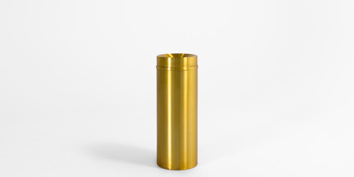 "32""h Satin Brass Waste Receptacle MIS013366"
