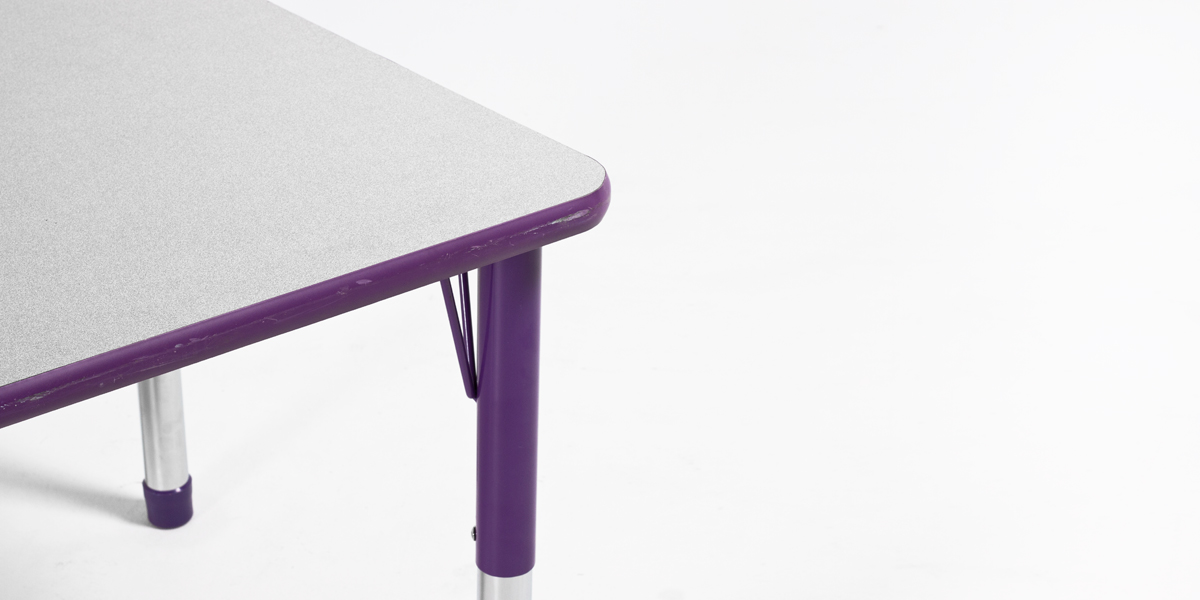 "48""w x 30""d Purple Children's Work Table TBL013118"
