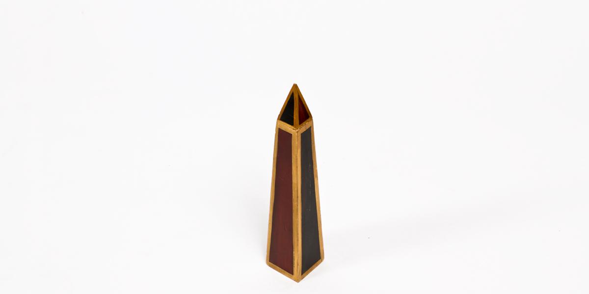"""12""""h Wood Obelisk ACC001421"""