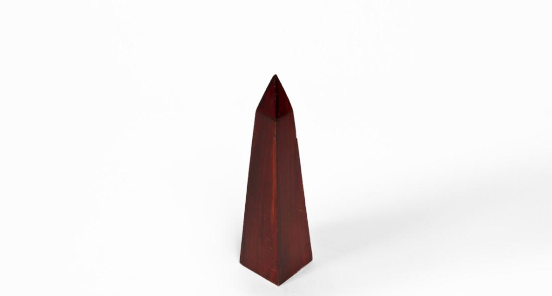 """12""""h Wood Obelisk ACC001453"""