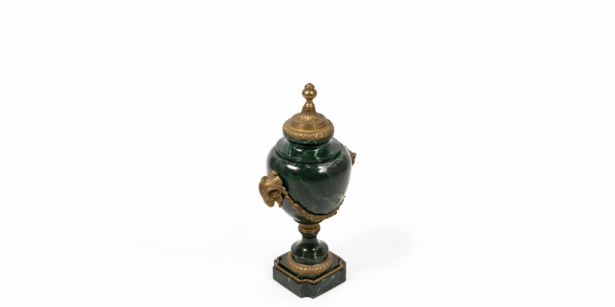 """17""""h Faux Green Marble Urn ACC004031"""