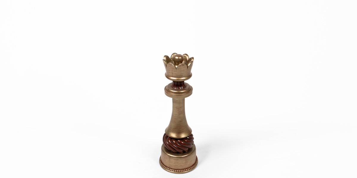 "18""h Gold Chess Piece ACC008196"