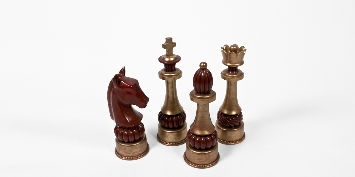 "20""h Gold Chess Piece ACC008198"