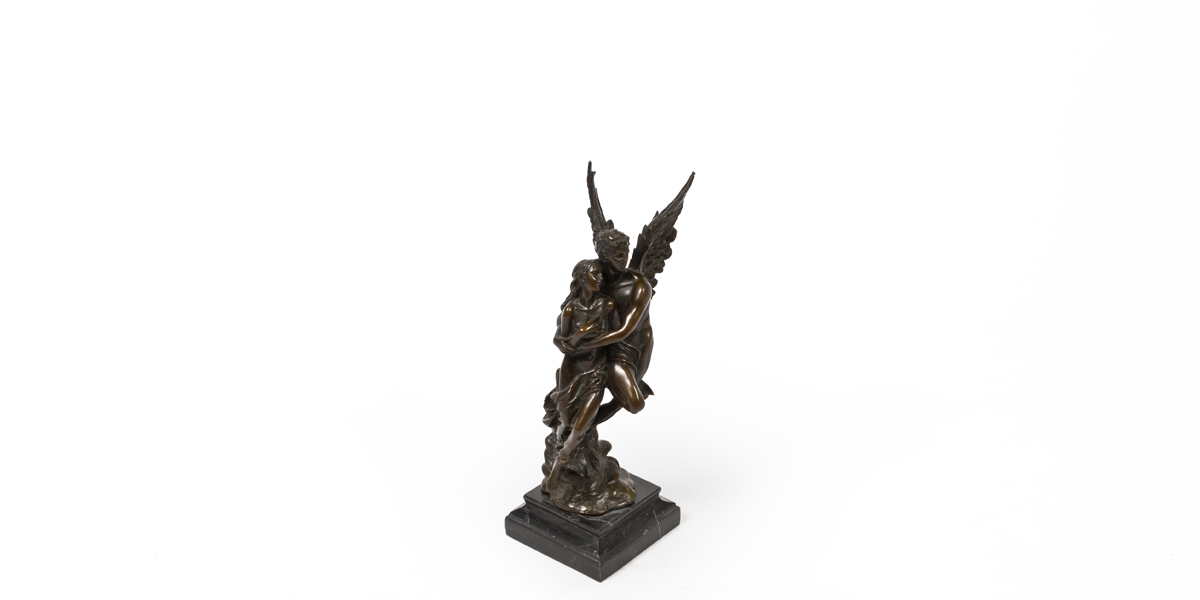 """13""""h Bronze Statue ACC009998"""