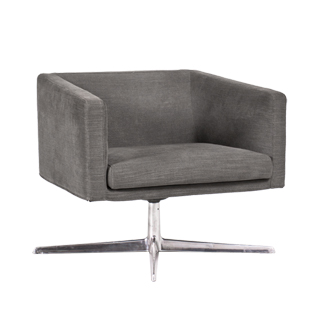 Grey Fabric Lounge Chair CHR010514