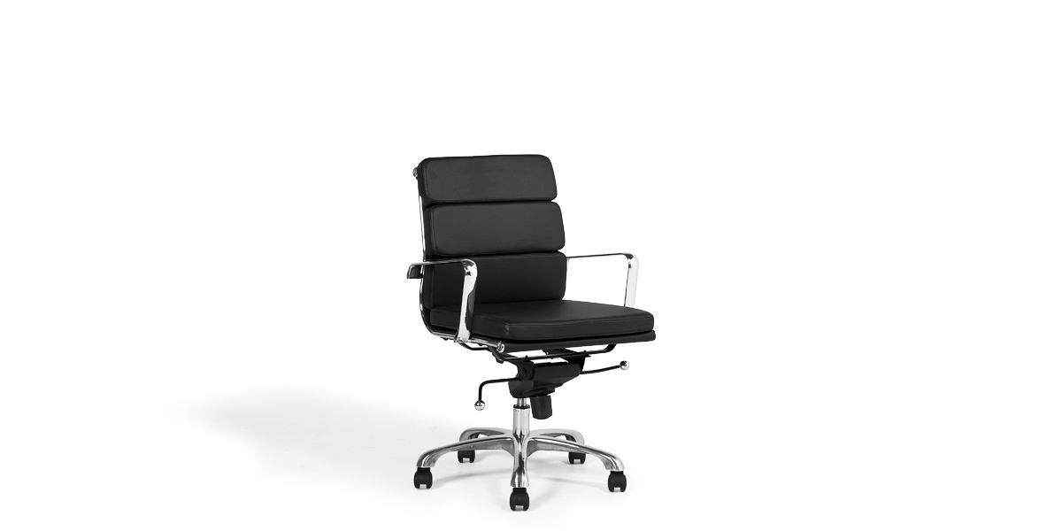 Black Leather Executive Mid-Back Office Chair CHR013438