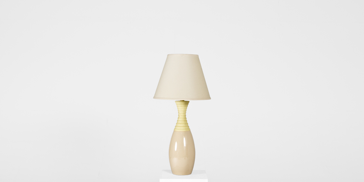 "32""h Beige Table Lamp LGT007904"