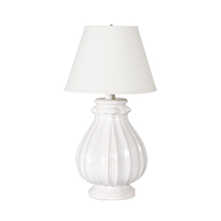 "30""h Eggshell White Table Lamp LGT007905"