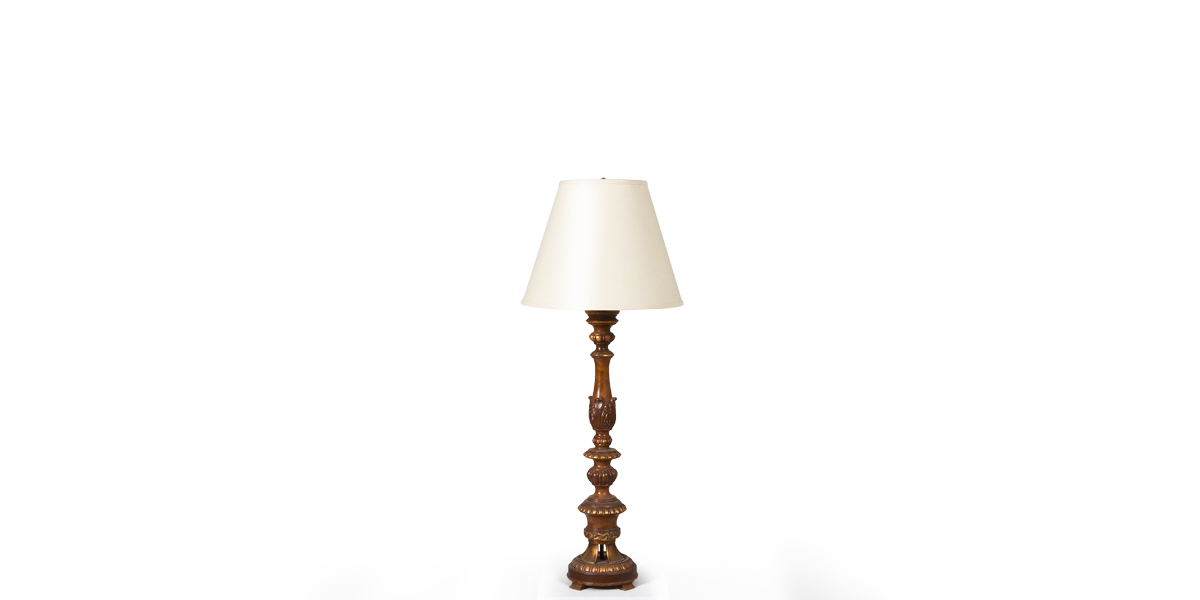 "41""h Oak Table Lamp LGT009533"