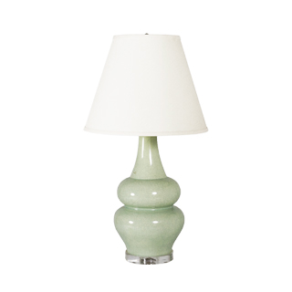 "29""h Pale Green Ceramic Table Lamp LGT010389"