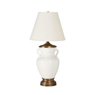"34""h White Bone Table Lamp LGT010907"