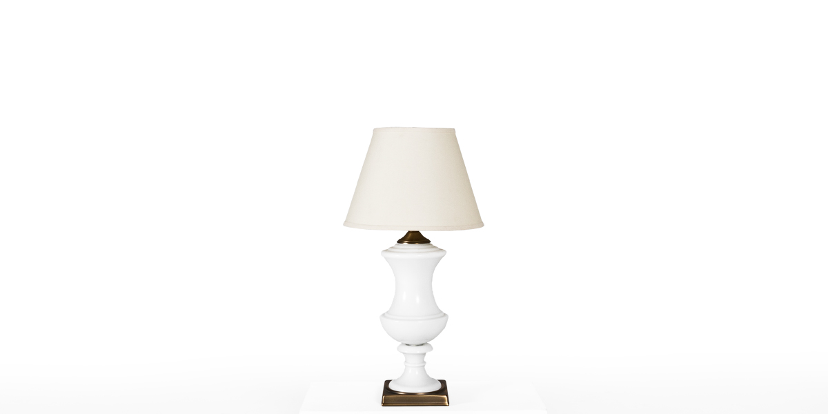"28""h White Gloss Porcelain Table Lamp LGT010940"