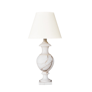 "33""h Ivory Alabaster Table Lamp LGT011088"