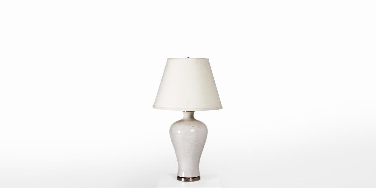 "25.25""h Taupe Ceramic Table Lamp LGT011091"