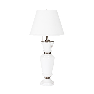 "30""h White Ceramic Table Lamp LGT011101"
