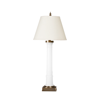 "33""h White Gloss Porcelain Table Lamp LGT011396"