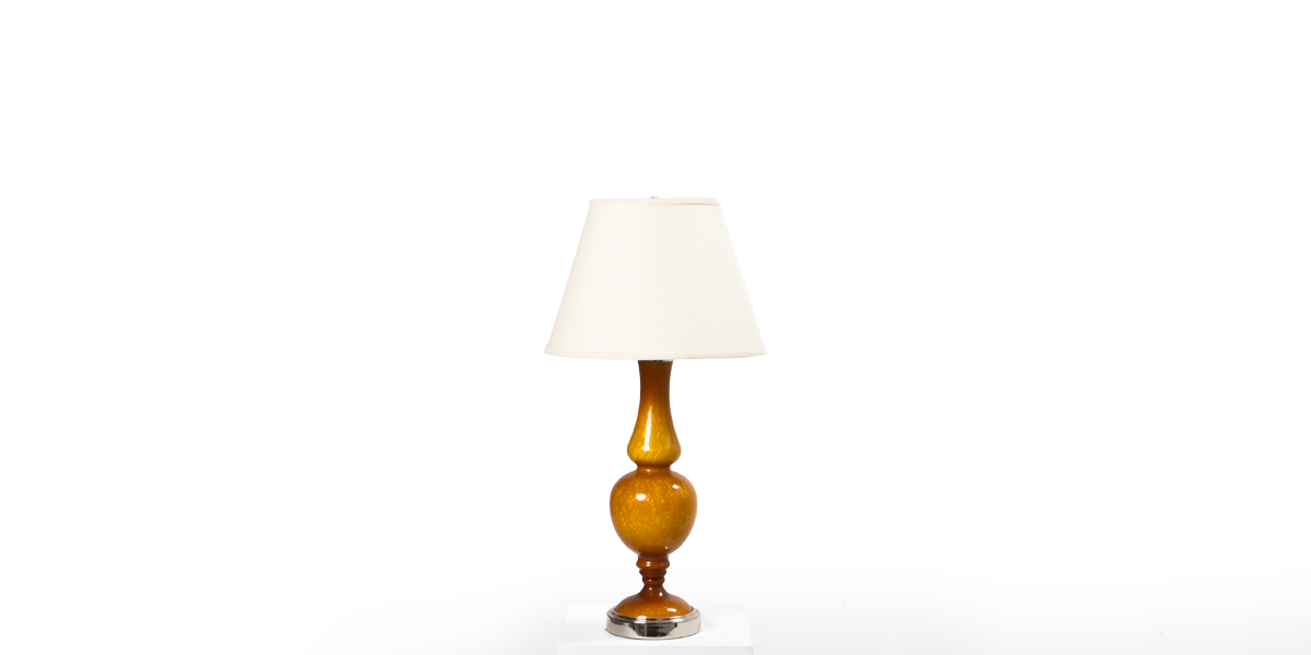 "30""h Amber Ceramic Table Lamp LGT011846"