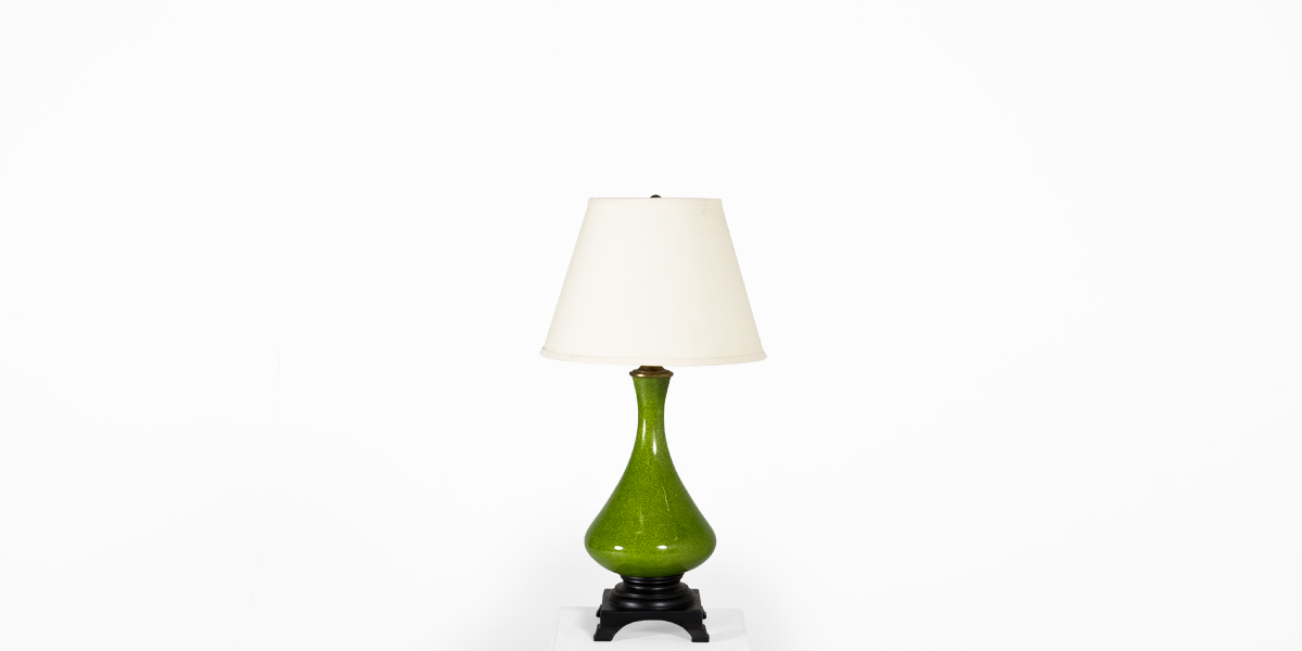 "30""h Green Ceramic Table Lamp LGT011848"