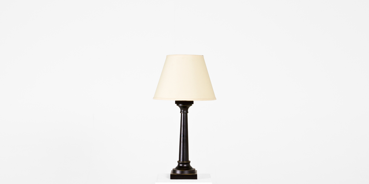 "28""h Black Tin Table Lamp LGT012354"