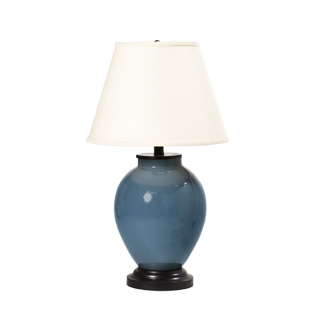 "25""h Blue Ceramic Table Lamp LGT012365"