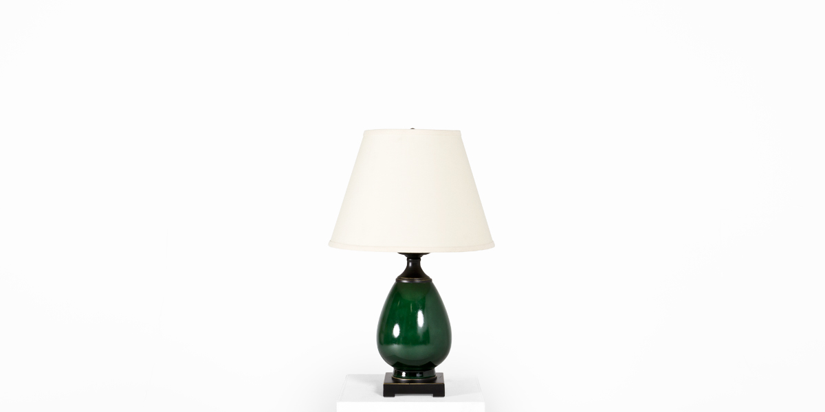 "24""h Green Table Lamp LGT012383"